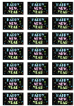 Happy New Year Neon Stickers - 21 per sheet
